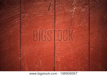 Close-up Of Red Wood Panels Used As Background,