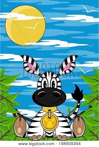 Zebra In Jungle