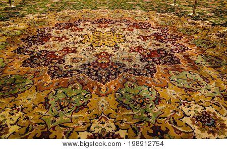 Carpet Details of Interior to Sheikh Zayed Mosque - 02.05.2015 Abu-Dhabi UAE