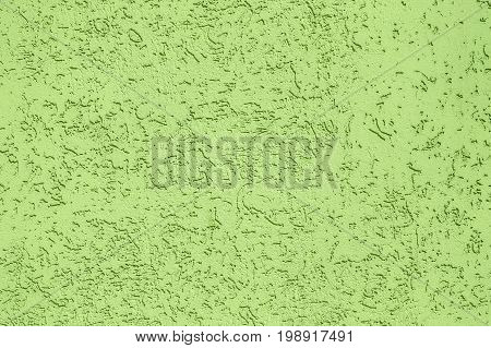 Texture background plaster of the hue greenery. Wall of the house.