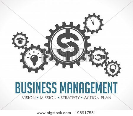 Business gears concept - money makes everything