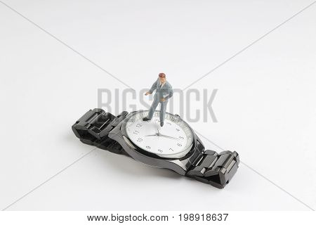Count Down Concept  Min Business Figure Stand Watch