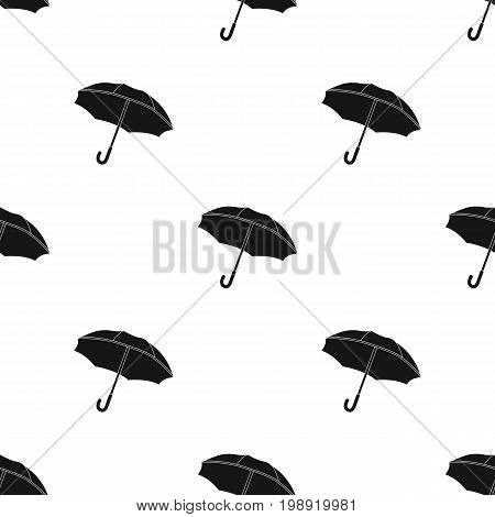 Umbrella icon in black design isolated on white background. France country symbol stock vector illustration.