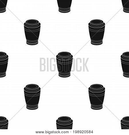 Funeral urns icon in black design isolated on white background. Funeral ceremony symbol stock vector illustration.