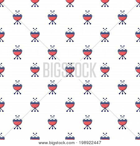 Drums pattern in cartoon style. Seamless pattern vector illustration