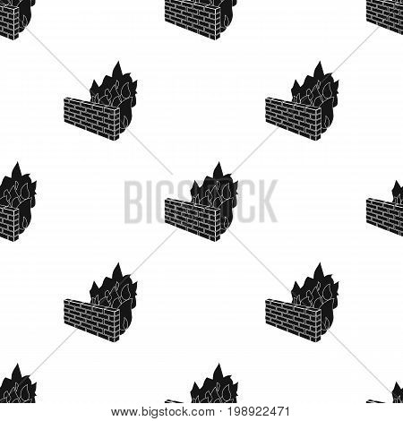 Firewall icon in black design isolated on white background. Hackers and hacking symbol stock vector illustration.