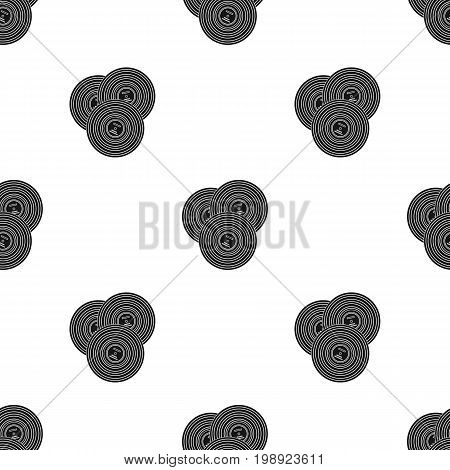 Vinyl records icon in black design isolated on white background. Hipster style symbol stock vector illustration.