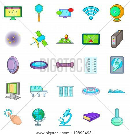 Breakthrough icons set. Cartoon set of 25 breakthrough vector icons for web isolated on white background