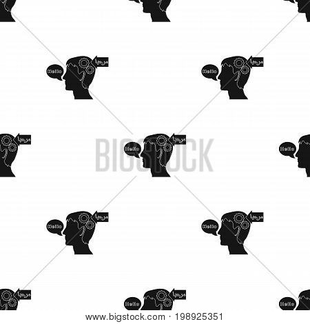 Understanding of foreign language icon in black design isolated on white background. Interpreter and translator symbol stock vector illustration.