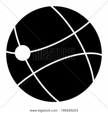 Symbol Of Global Technology Black Color Icon .