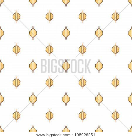 Dough with rolling pin pattern in cartoon style. Seamless pattern vector illustration