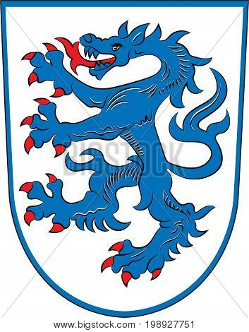 Coat of arms of Ingolstadt is a city in Bavaria of Germany. Vector illustration from the
