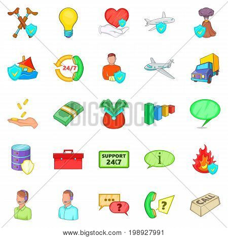 Belay icons set. Cartoon set of 25 belay vector icons for web isolated on white background