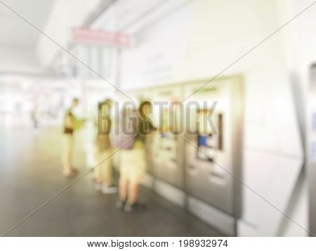 Blurred Image Of People, Multi Ethnicity And Age People Attendance, Male And Female, The Tourist Or