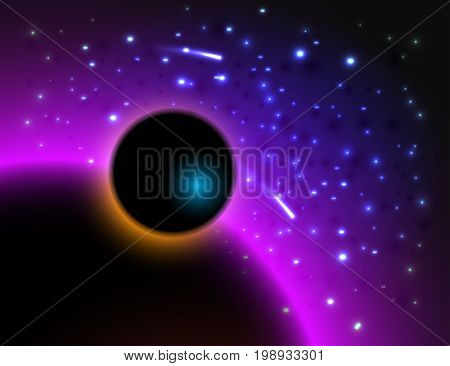Abstract galaxy background. Outer astrology mystic deep colorful space.