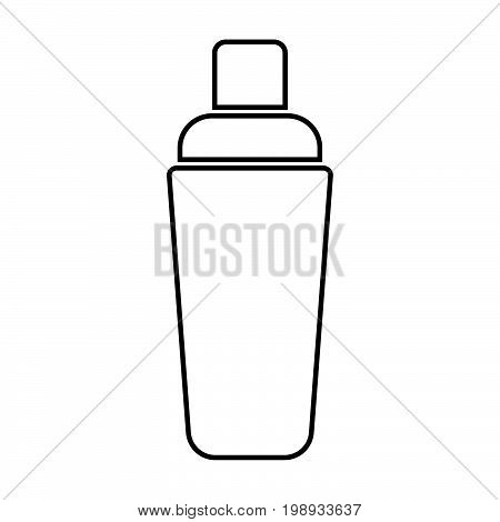 Shaker Black Color Icon .