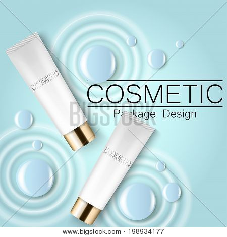 Moisturizing face cream package cosmetics design, ads, templates for design
