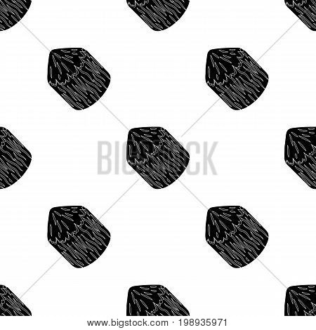 Conical log. Canada single icon in black style vector symbol stock illustration .