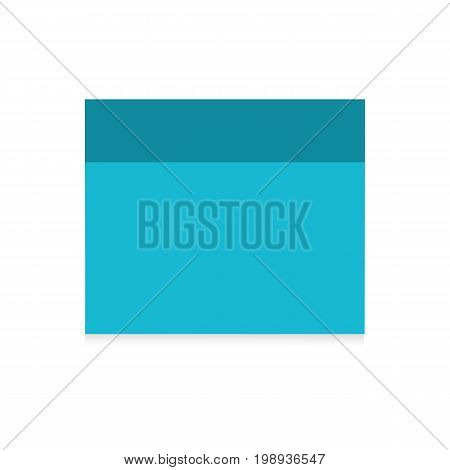 Blue sticker isolated on white background. A note in the style of realism