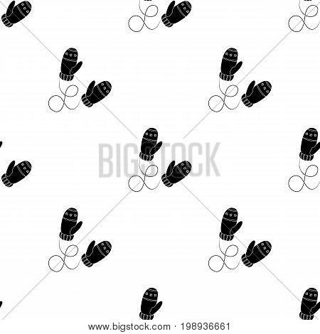 Winter mittens. Canada single icon in black style vector symbol stock illustration .