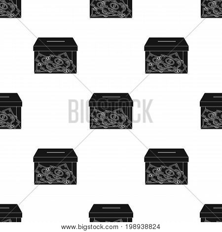 icon in black design isolated on white background. Charity and donation symbol stock vector illustration.