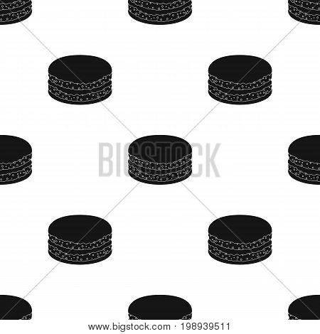 Chocolate biscuit icon in black design isolated on white background. Chocolate desserts symbol stock vector illustration.