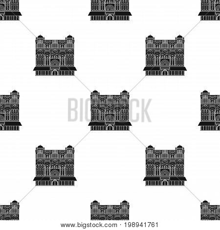 Queen Victoria Building icon in black design isolated on white background. Countries symbol stock vector illustration.
