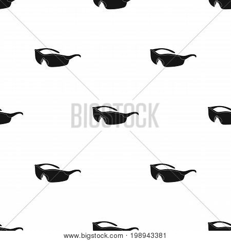 Protection for the eyes of cyclists from falling rocks.Cyclist outfit single icon in black style vector symbol stock web illustration.