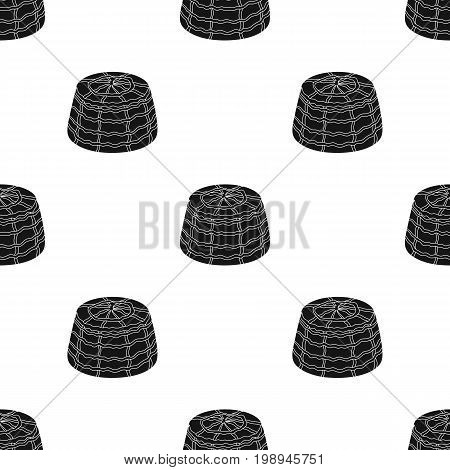 Ricotta.Different kinds of cheese single icon in black style vector symbol stock illustration .