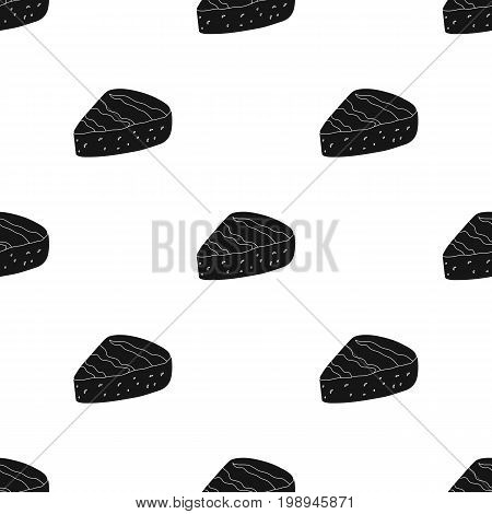 Brie.Different kinds of cheese single icon in black style vector symbol stock illustration .