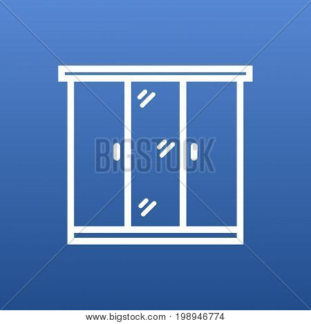 Isolated Cupboard Outline Symbol On Clean Background
