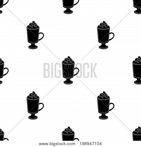 A cup of mocha with foam.Different types of coffee single icon in black style vector symbol stock illustration .