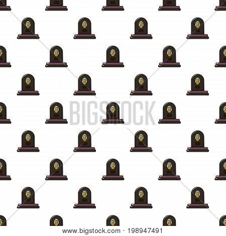 Headstone pattern in cartoon style. Seamless pattern vector illustration