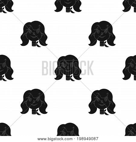 Mother icon in black design isolated on white background. Family holiday symbol stock vector illustration.