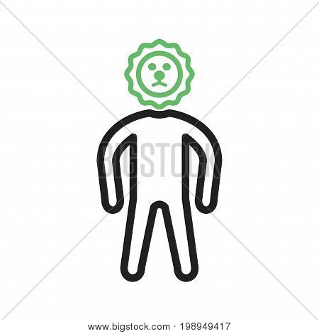 Brave, person, life icon vector image. Can also be used for Personality Traits. Suitable for web apps, mobile apps and print media.