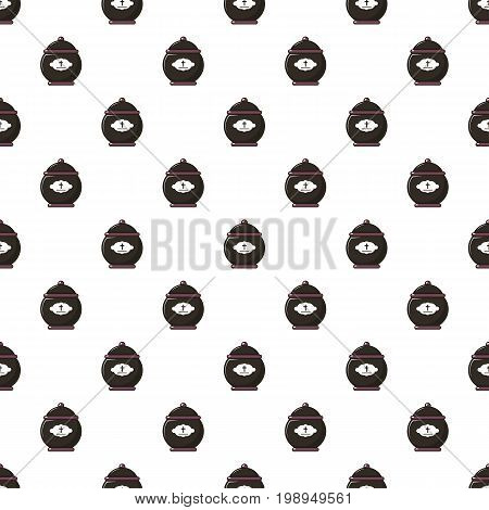 Funeral urn pattern in cartoon style. Seamless pattern vector illustration