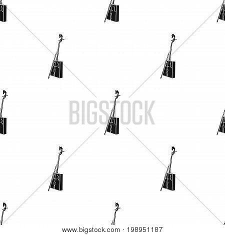 Wooden musical instruments of Mongol .National music of the Mongolian.Mongolia single icon in black style vector symbol stock web illustration.