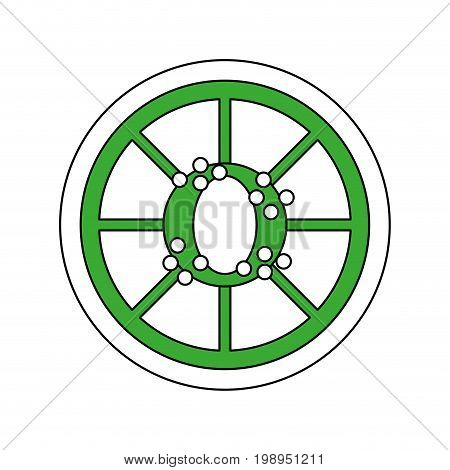 Flat line lime with a hint of color over white background vector illustration