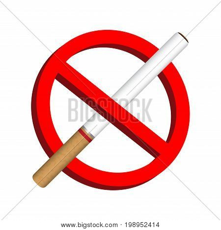 no smoke cigarette icon prohibition sign vector