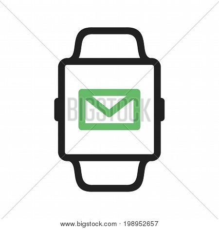 Email, watch, app icon vector image. Can also be used for Smart Watch. Suitable for mobile apps, web apps and print media.