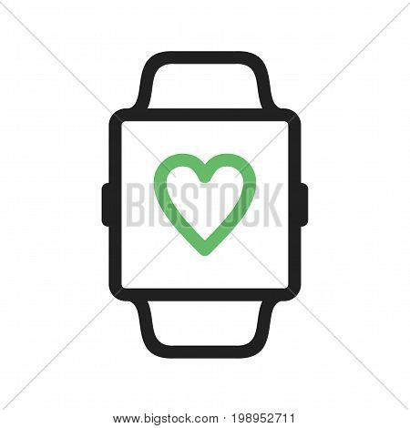 Health, app, heart icon vector image. Can also be used for Smart Watch. Suitable for use on web apps, mobile apps and print media.