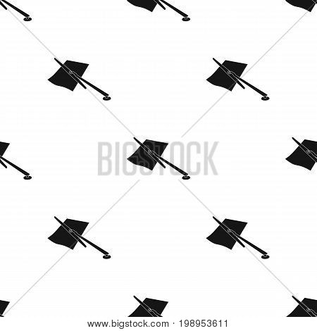 Parking fine icon in black design isolated on white background. Parking zone symbol stock vector illustration.