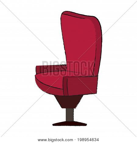 Colorful seat doodle over white background vector illustration