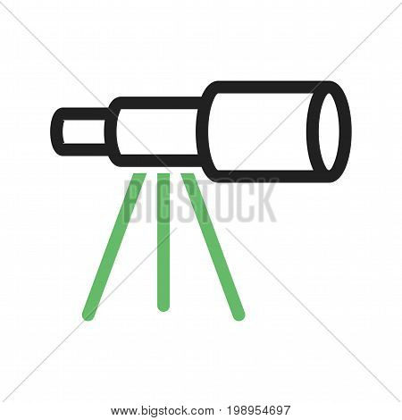 Ship, telescope, stand icon vector image. Can also be used for pirate. Suitable for use on web apps, mobile apps and print media.