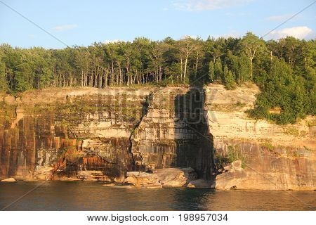 Cliffs at Pictured Rocks National Lakeshore, Upper Peninsula of Michigan