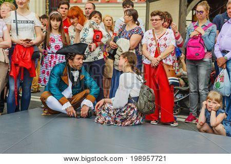 International Festival- Audience On Tverskaya Street
