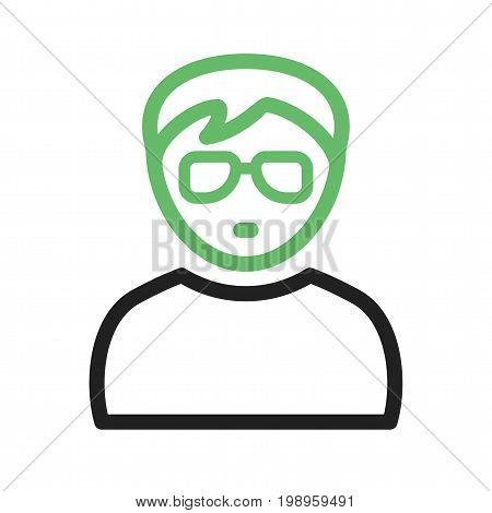 Nerd, glasses, style icon vector image. Can also be used for Avatars. Suitable for mobile apps, web apps and print media.
