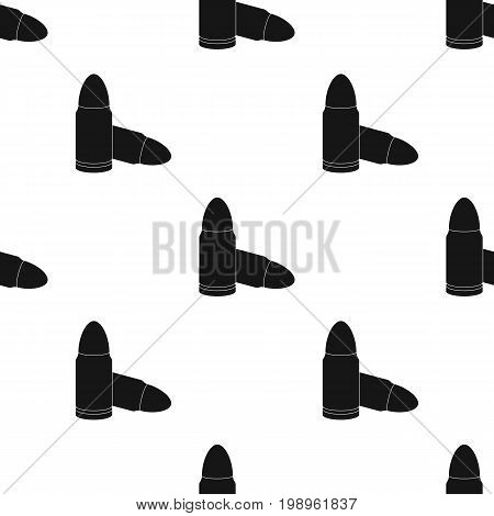 Combat bullets and cartridges of criminals. Outfit for robbery.Prison single icon in black style vector symbol stock web illustration.