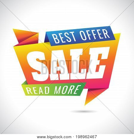best offer read more Sale Banner Design on white background. sale. Discount . Vector