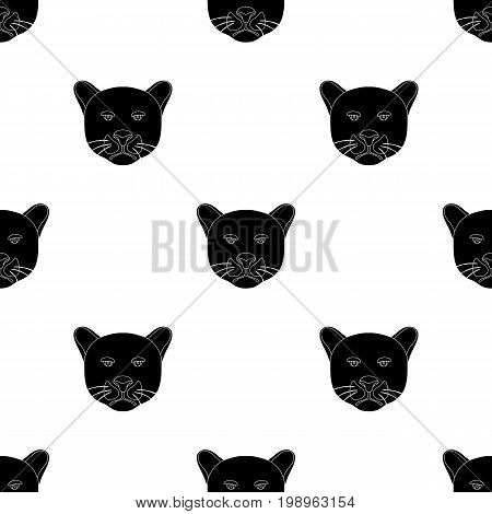 black panther icon in black design isolated on white background. Realistic animals symbol stock vector illustration.